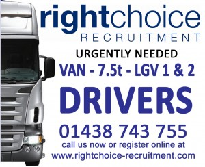Driving work in Hertfordshire, Bedfordshire & Cambridgeshire